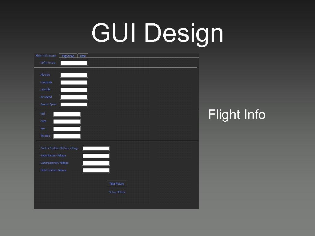 GUI Design Flight Info