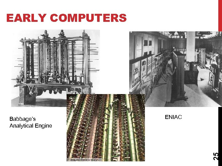 EARLY COMPUTERS ENIAC 25 Babbage's Analytical Engine