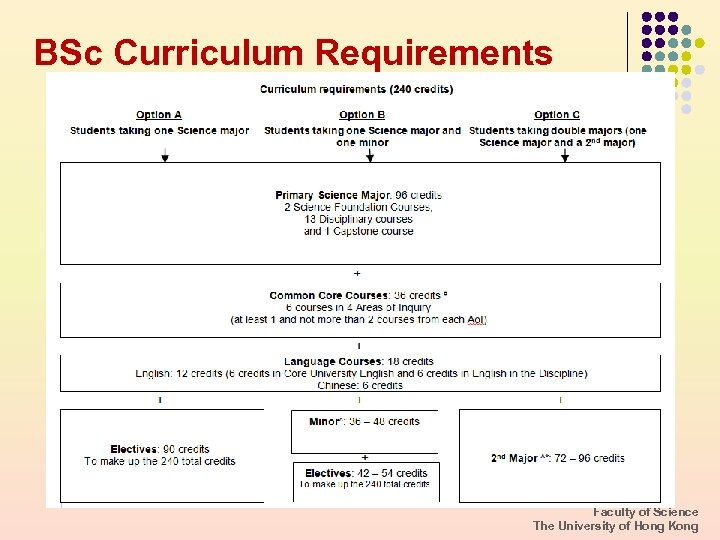 BSc Curriculum Requirements Faculty of Science The University of Hong Kong