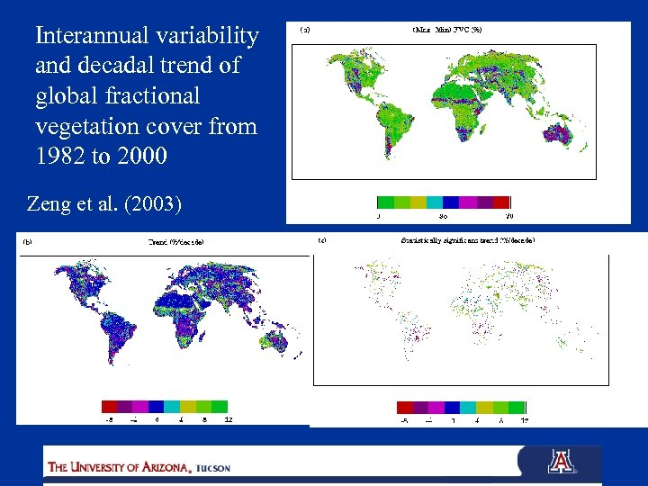 Interannual variability and decadal trend of global fractional vegetation cover from 1982 to 2000