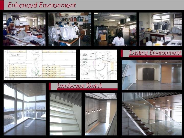 Enhanced Environment Existing Environment Landscape Sketch