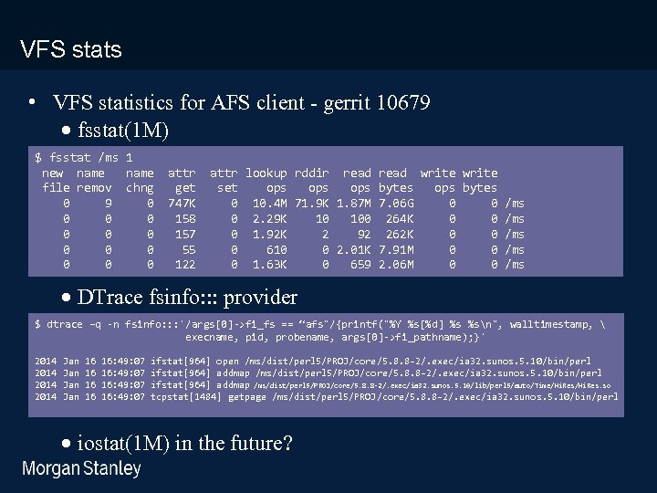 prototype template (5428278)print library_new_final. ppt 3/18/2018 VFS stats • VFS statistics for AFS client