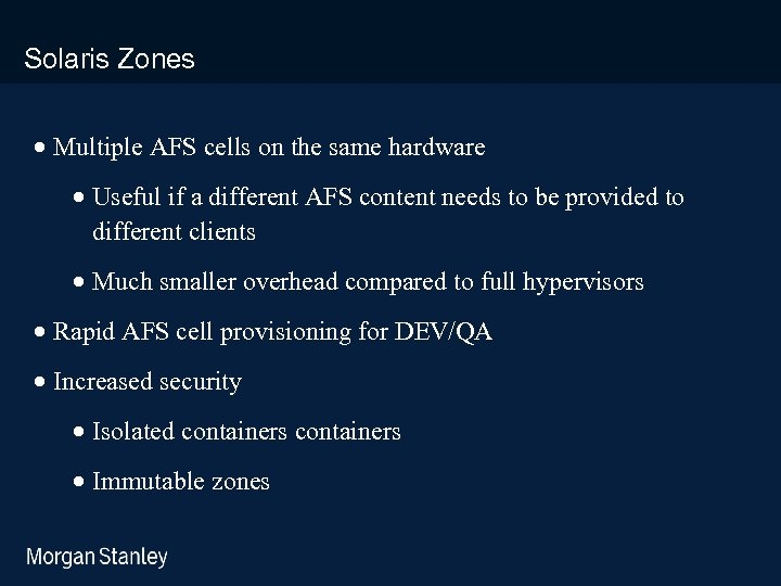 prototype template (5428278)print library_new_final. ppt Solaris Zones · Multiple AFS cells on the same