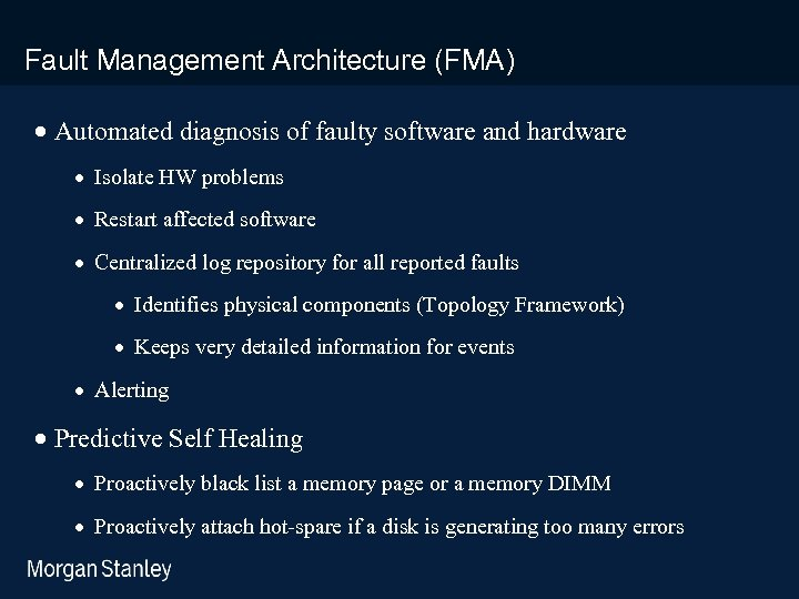 prototype template (5428278)print library_new_final. ppt Fault Management Architecture (FMA) · Automated diagnosis of faulty