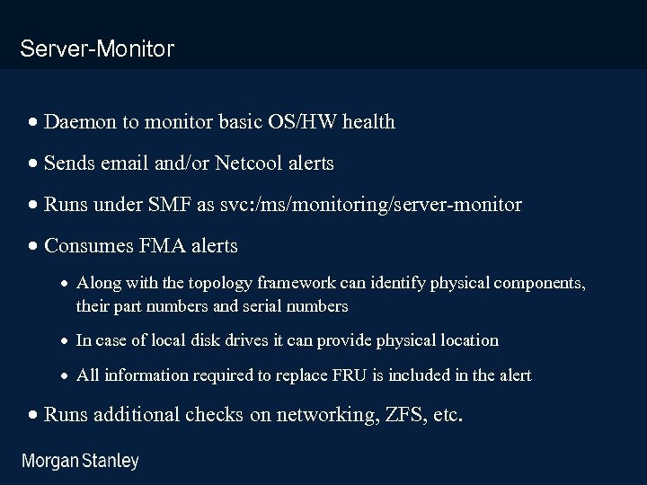 prototype template (5428278)print library_new_final. ppt Server-Monitor · Daemon to monitor basic OS/HW health ·