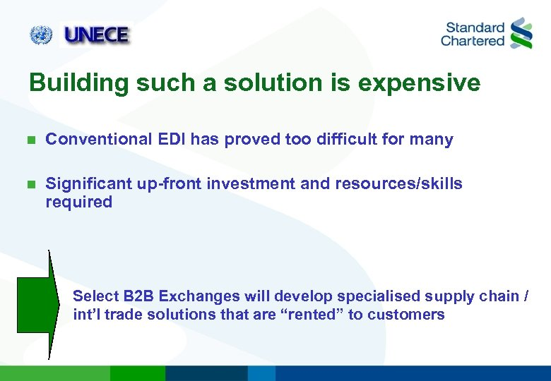 Building such a solution is expensive n Conventional EDI has proved too difficult for