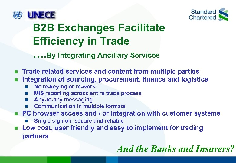 B 2 B Exchanges Facilitate Efficiency in Trade …. By Integrating Ancillary Services n