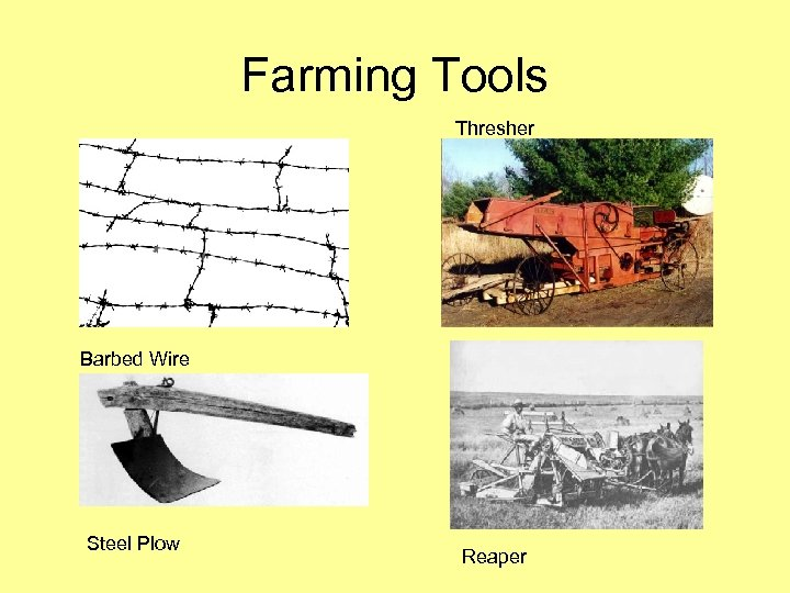 Farming Tools Thresher Barbed Wire Steel Plow Reaper