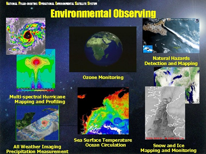 NATIONAL POLAR-ORBITING OPERATIONAL ENVIRONMENTAL SATELLITE SYSTEM Environmental Observing Natural Hazards Detection and Mapping Ozone