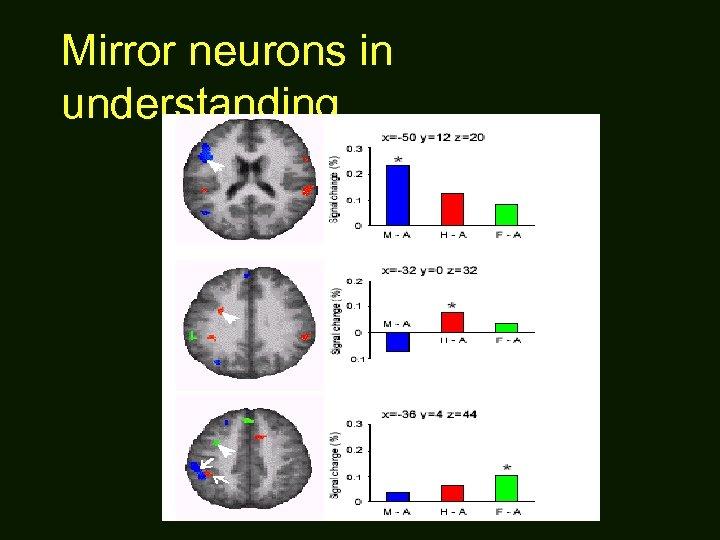 Mirror neurons in understanding