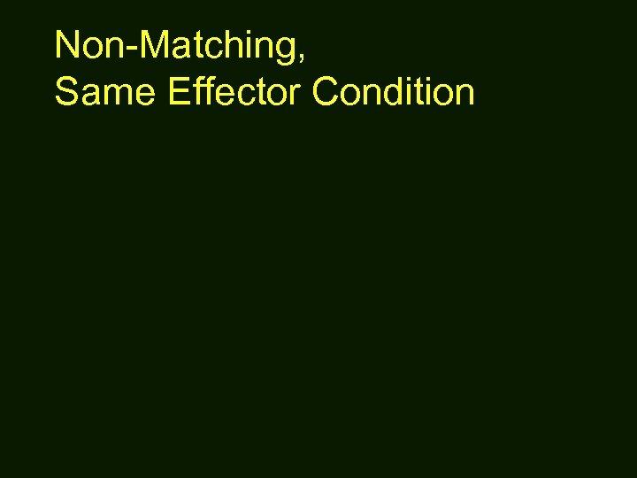 Non-Matching, Same Effector Condition