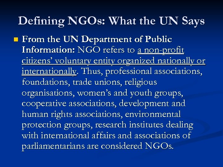 describe the value of belonging to a national or international forensic organization International organization: international organization, institution drawing membership from at least three states, having activities in several states, and whose members are held together by a formal agreement the union of international associations, a coordinating body, differentiates between the.