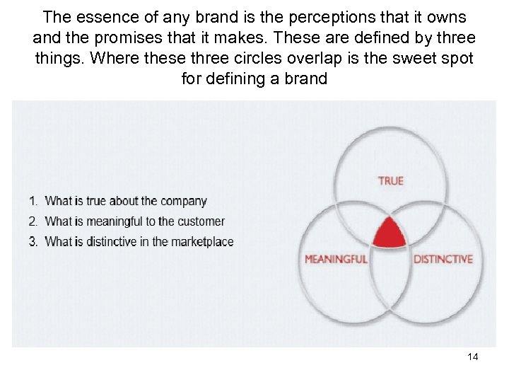 The essence of any brand is the perceptions that it owns and the promises