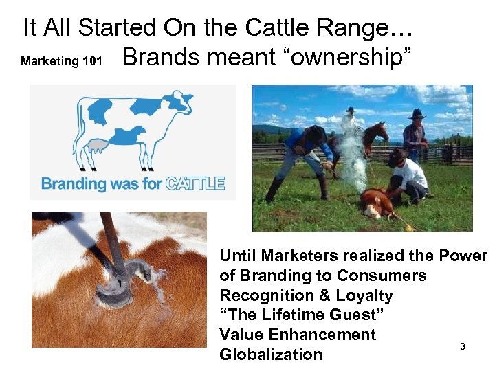 """It All Started On the Cattle Range… Marketing 101 Brands meant """"ownership"""" Until Marketers"""