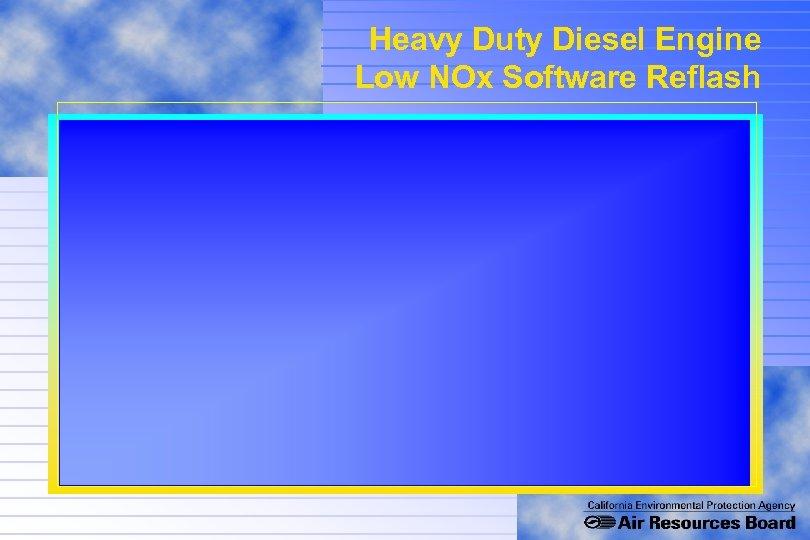 Heavy Duty Diesel Engine Low NOx Software Reflash