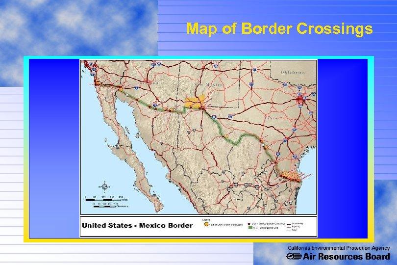 Map of Border Crossings
