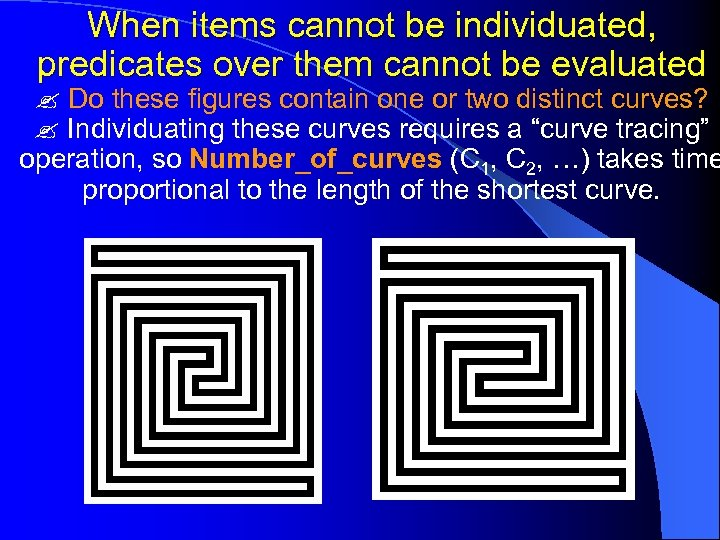 When items cannot be individuated, predicates over them cannot be evaluated Do these figures