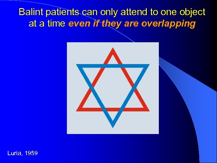 Balint patients can only attend to one object at a time even if they