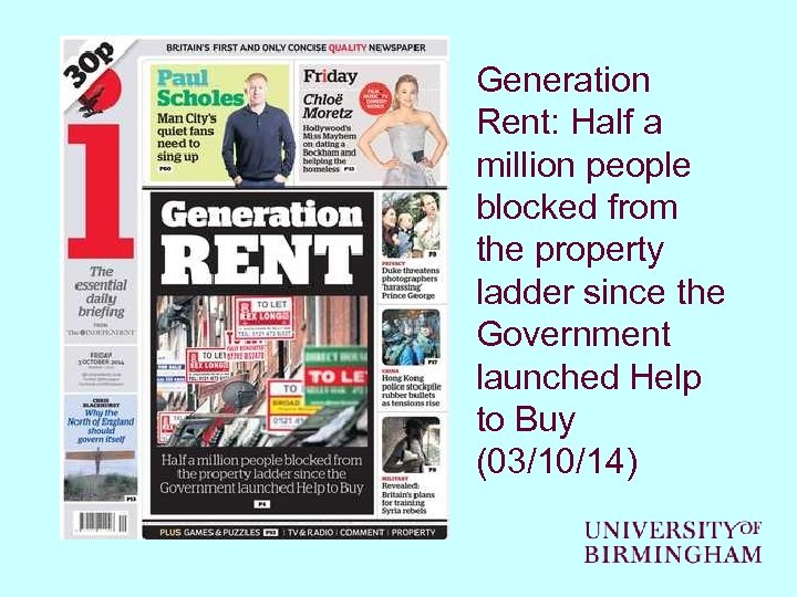 Generation Rent: Half a million people blocked from the property ladder since the Government