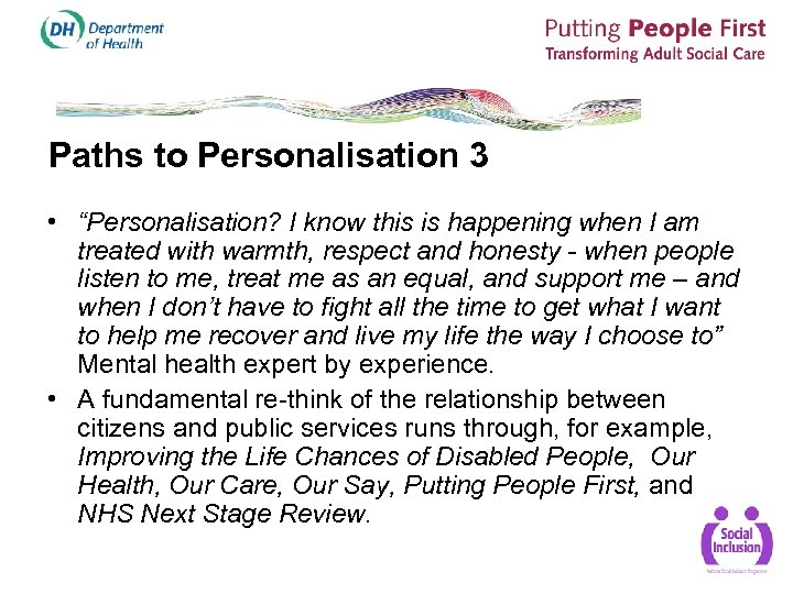 "Paths to Personalisation 3 • ""Personalisation? I know this is happening when I am"