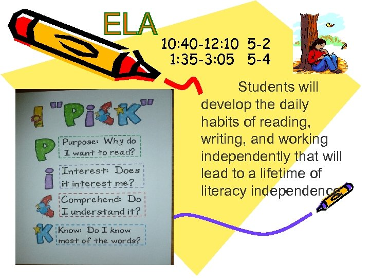 10: 40 -12: 10 5 -2 1: 35 -3: 05 5 -4 Students will