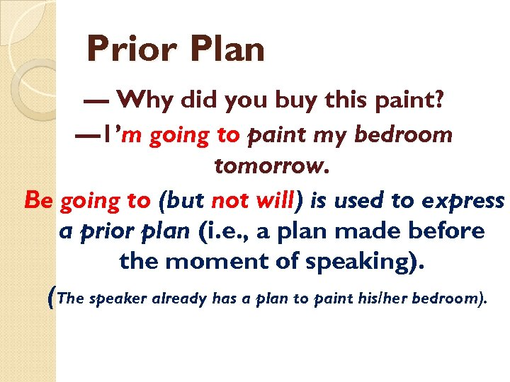 Prior Plan — Why did you buy this paint? — 1'm going to paint