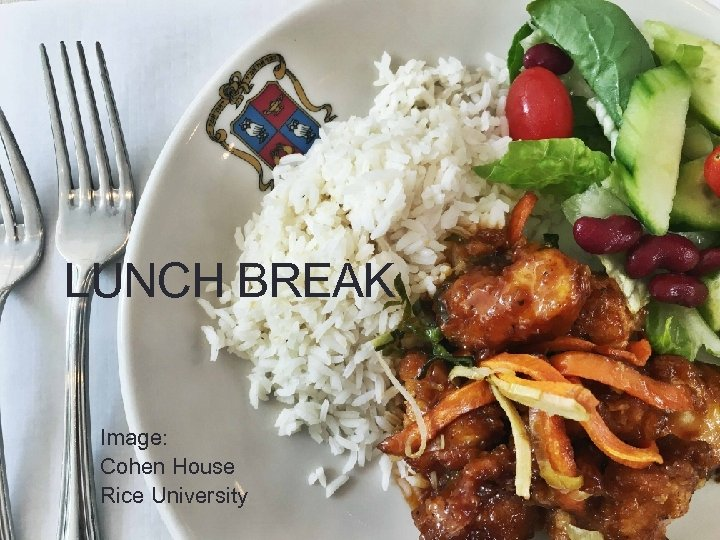 LUNCH BREAK Image: Cohen House Rice University