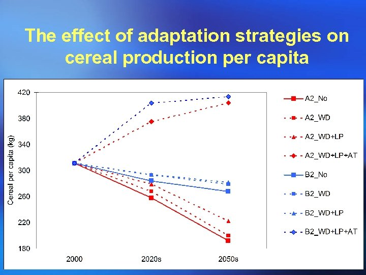 The effect of adaptation strategies on cereal production per capita