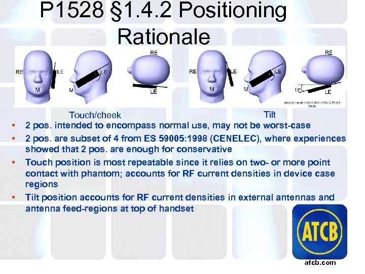 P 1528 § 1. 4. 2 Positioning Rationale • • Tilt Touch/cheek 2 pos.