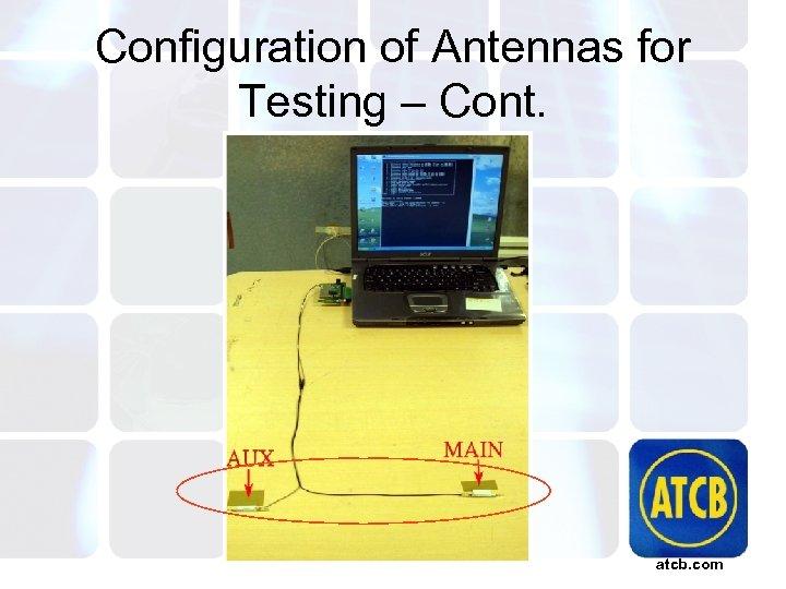 Configuration of Antennas for Testing – Cont. atcb. com