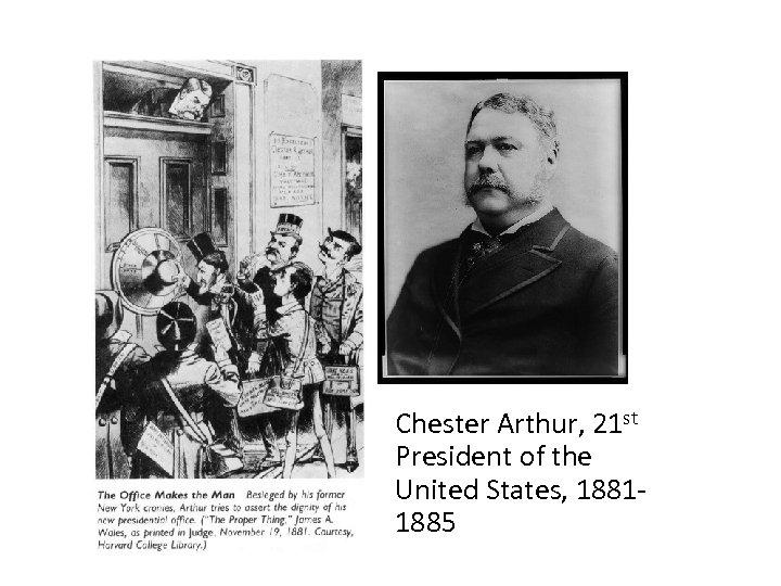 Chester Arthur, 21 st President of the United States, 18811885