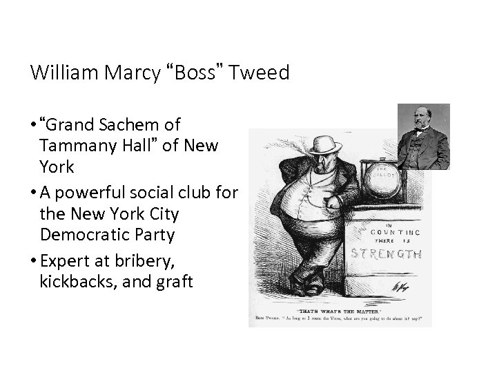"William Marcy ""Boss"" Tweed • ""Grand Sachem of Tammany Hall"" of New York •"