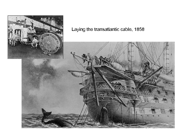 Laying the transatlantic cable, 1858