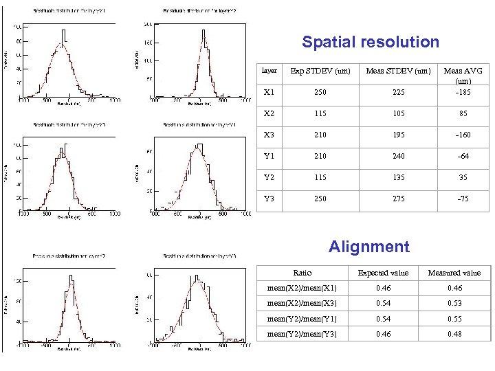 Spatial resolution layer Exp STDEV (um) Meas STDEV (um) X 1 250 225 Meas