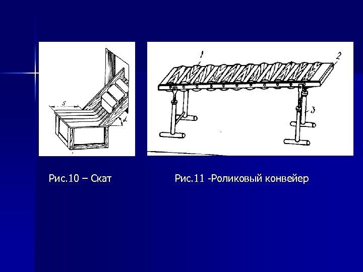Рис. 10 – Скат Рис. 11 -Роликовый конвейер