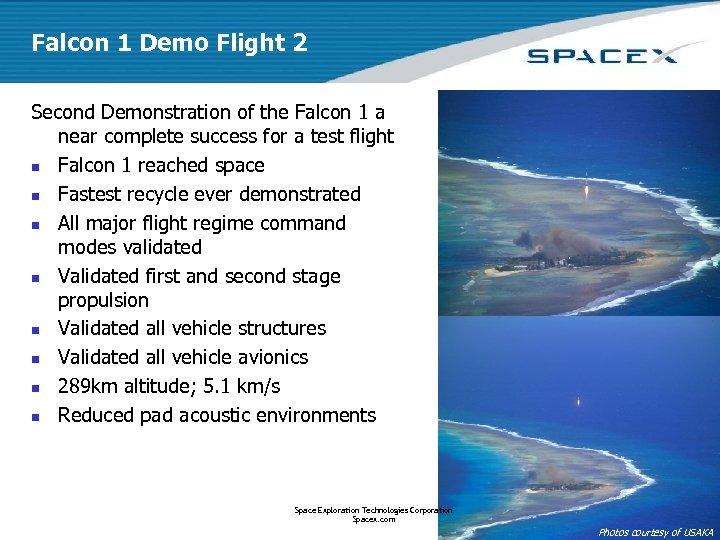 Falcon 1 Demo Flight 2 Second Demonstration of the Falcon 1 a near complete