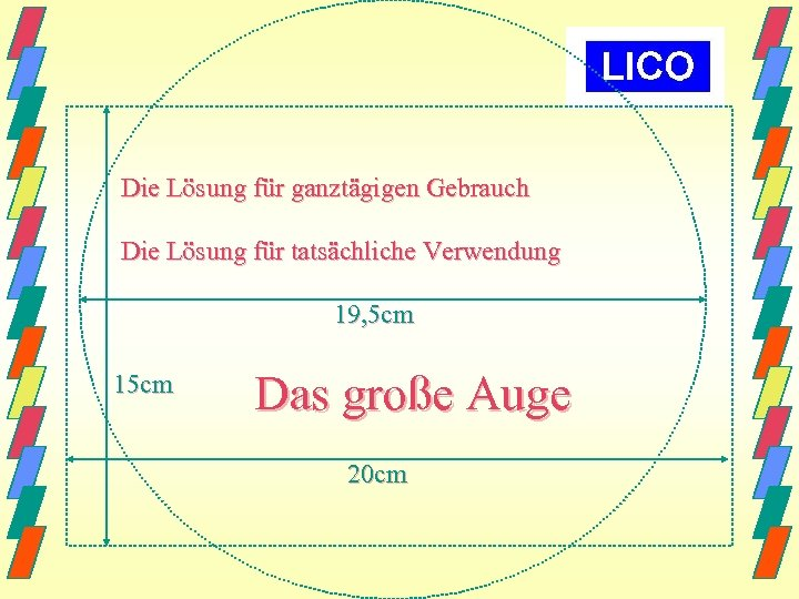 Die Lösung für ganztägigen Gebrauch Die Lösung für tatsächliche Verwendung 19, 5 cm 15
