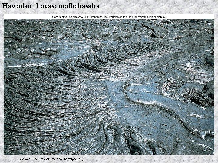 Hawaiian Lavas: mafic basalts Source: Courtesy of Carla W. Montgomery.
