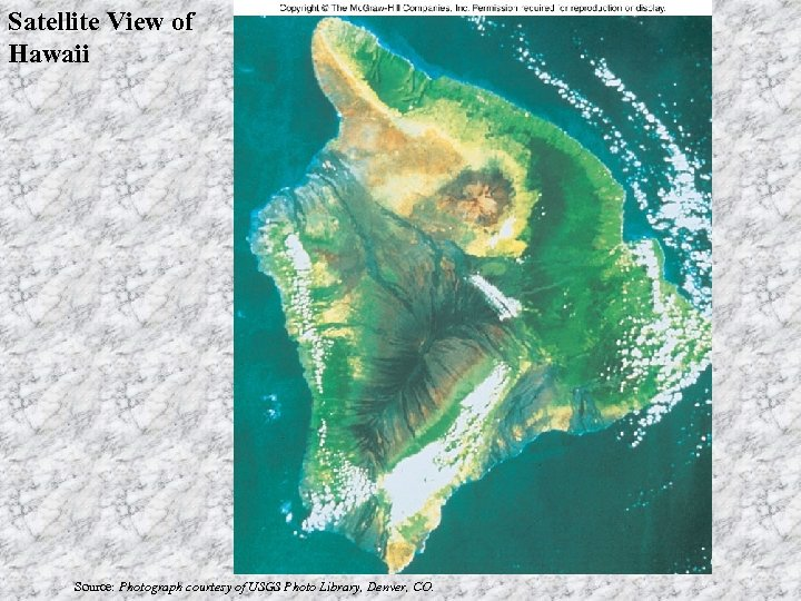 Satellite View of Hawaii Source: Photograph courtesy of USGS Photo Library, Denver, CO.