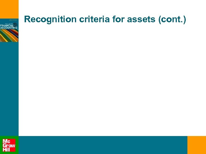 Recognition criteria for assets (cont. )