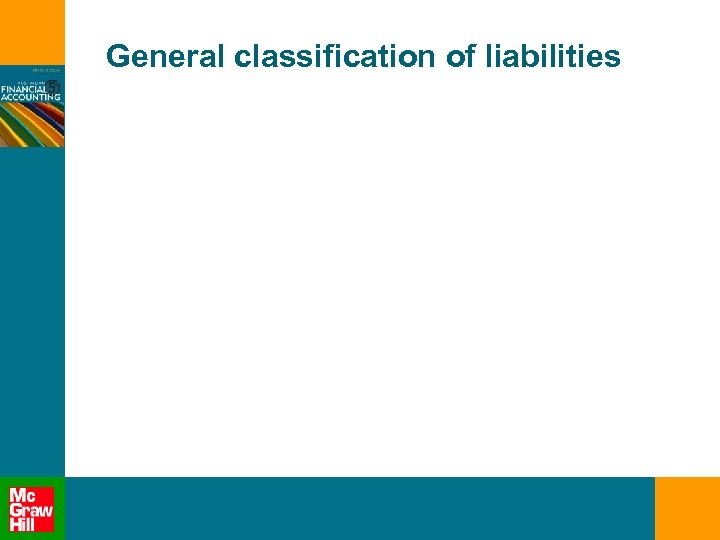 General classification of liabilities