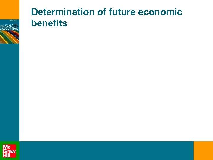 Determination of future economic benefits