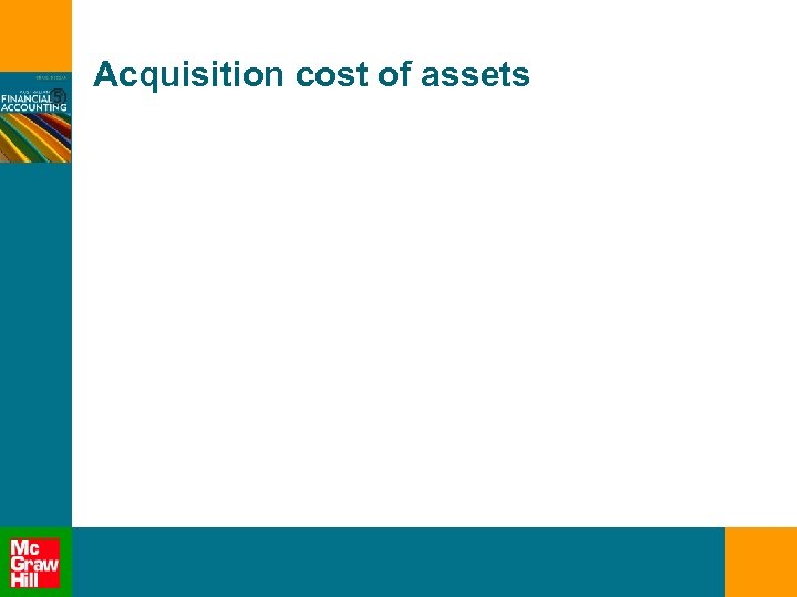 Acquisition cost of assets
