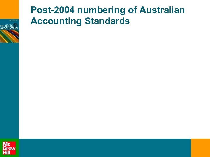 Post-2004 numbering of Australian Accounting Standards