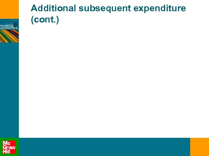 Additional subsequent expenditure (cont. )