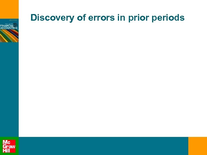 Discovery of errors in prior periods