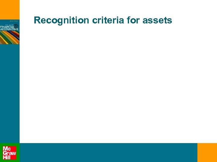 Recognition criteria for assets