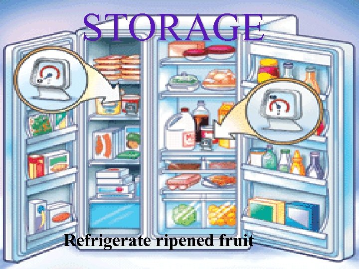 STORAGE Refrigerate ripened fruit