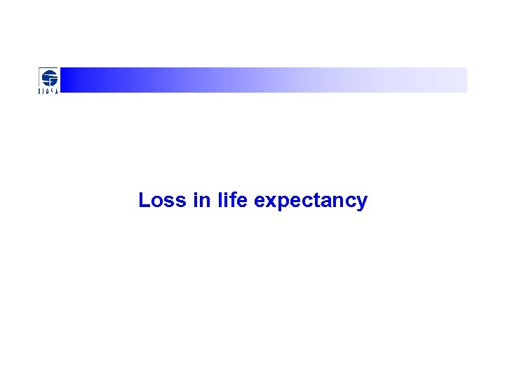 Loss in life expectancy