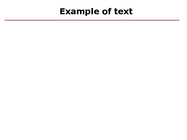 Example of text